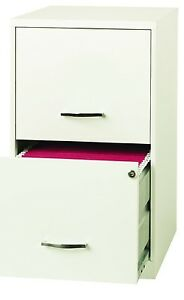 Filing Cabinet Storage Drawer 2 Office Business Home White Furniture Mobile New