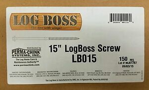 Log Boss Hog 15 Timber Landscaping Log Home Cabin Heavy Duty Screw Omg