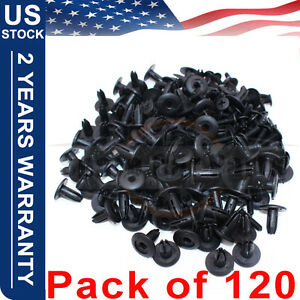 120 X 6mm Car Plastic Rivets Hole Dia Fastener Fender Bumper Push Pin Clips Clip
