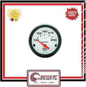 Autometer 100 250 F Phantom Analog Oil Temperature Gauge 5747