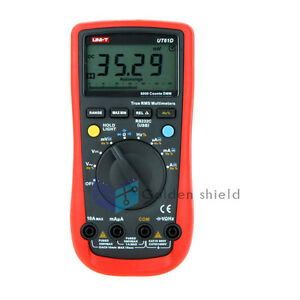 Uni t Ut61d True Rms Count Auto Range Digital Multimeter Amp Ohm Freq Tester