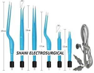 Bipolar American Reusable Forceps Set With Silicone Cord 7 Pcs Set