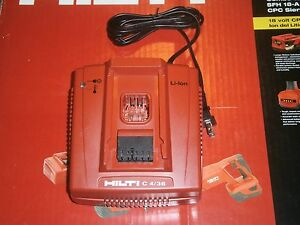 Hilti C 4 36 Charger Brand New