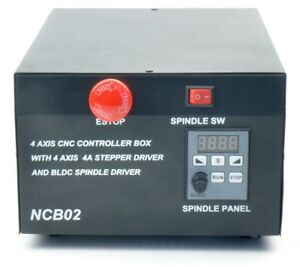 New Cnc Control Box 4 Axis Stepper Motor Driver 400w Bldc Spindle Driver Mach3