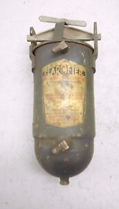 Vintage Clarofier W G B Oil Filter Cleaner Cannister Assembly Kingston Ny