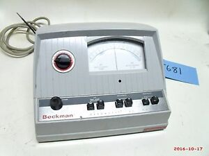Beckman Zeromatic Ph Meter Model 96 Powers Up Used Free Shipping