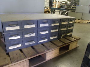 Lyon Metal Supply Parts Bin Cabinet With 18 Drawers 34 X 17 X 10 1 2