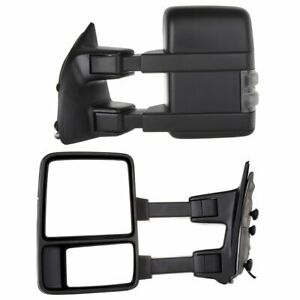 Pair For 08 16 Ford F250 F350 F450 F550 Super Duty Towing Manual Signal Mirrors