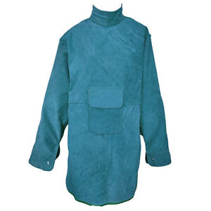 47 2 l Leather Welding Apron Heat Insulation Protection Safety Clothes Coat Blue