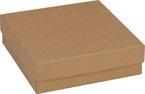 100 Natural Kraft Jewelry Boxes 3 1 2 X 3 1 2 X 1 Bangle Bracelet