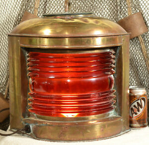 Large Vintage Perko Port Ship Light