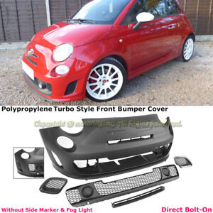For 12 17 Fiat 500c 500 Turbo Abarth Style Front Bumper Cover Kit W o Pdc