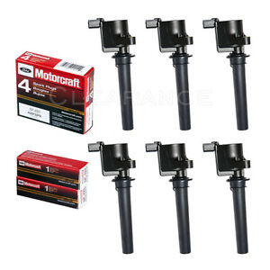 6 Ignition Coil Dg500 6 Motorcraft Sp493 Spark Plugs For Ford Mazda Mercury