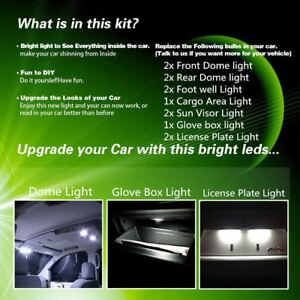 12xwhite Interior Lights Led Canbus Package For 2005 2010 Jeep Grand Cherokee Us