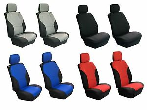 Universal Polyester 4 Pcs Low Back Seat Covers For Auto Cars Suvs Front Pair