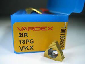 Box 10 Vardex 21r 18pg Vkx Threading Grooving Lathe Milling Carbide Inserts