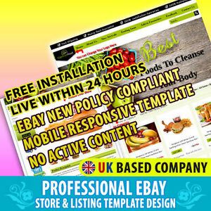 Advance Ebay Store Template Listing Mobile Responsive Template Foods Shop