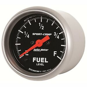Autometer 0 280 Sport Comp Analog Fuel Level Programmable Gauge 3310