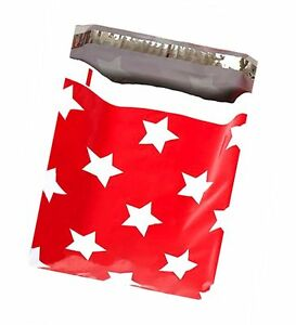 10 X 13 Christmas Stars flat Poly Mailers usps Approved Shipping Mailers