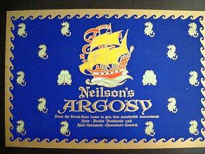Vintage Art Deco Style Label For Candy Boxes Neilson S Argosy W Seahorses