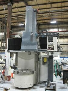 Bullard Dyn au tape 46 Cnc Vertical Boring Mill Rebuilt Retrofitted In 2017