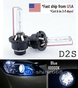35w D2s D2c Hid Xenon Bulbs Replacement Headlights Lamp 10000k Blue Stock In Us