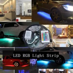 16ft 5m Multi Color Rgb Smd Led Strip Light Home Auto Waterproof 24 Key Control