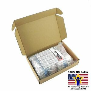 100value 1000pcs 1w Metal Film Resistor 1 Assortment Kit Us Seller Kitb0136