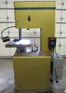 Powermatic 20 Bandsaw Model 87 W blade Welder grinder Wired 480v With Transform