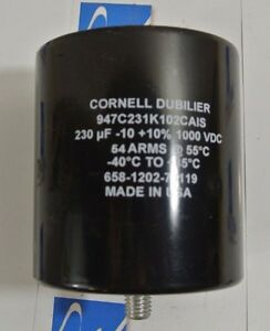 Used Cornell Dubilier Capacitor 947c231k102cais 230uf
