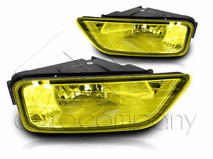 06 07 Honda Accord Inspire 4dr Yellow Fog Light W Wiring Kit Instruction