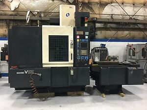 2001 Makino V 55 W pallet Changer Vertical Machining Center Cnc Pro 3 Control