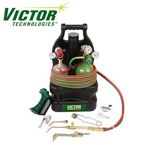 0384 0948 Victor Portable Tote Torch Kit Set Cutting Outfit With Cylinders