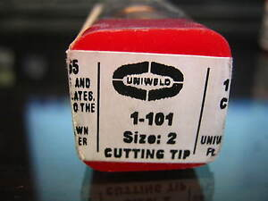 Uniweld 2 1 101 Acetylene Torch Cutting Tip Lot Of 6 Pcs