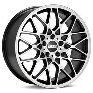 Bbs Rx R Black With Machined Face 20x10 42 5x112