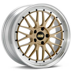Bbs Lm Gold With Polished Lip 19x10 25 5x120