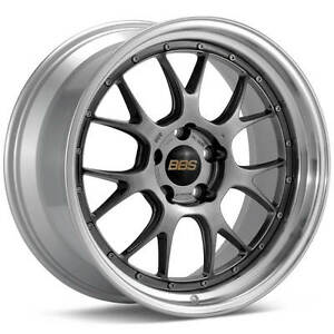 Bbs Lm R Black With Polished Lip 19x9 5 35 5x120