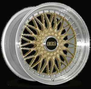 Bbs Rs Gold With Polished Lip 19x9 42 5x112