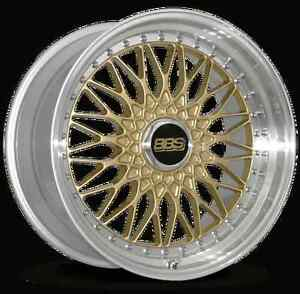 Bbs Rs Gold With Polished Lip 19x10 20 5x120