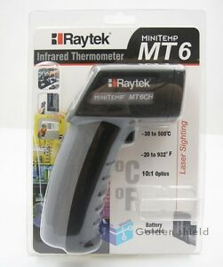 Raytek Mt6 Infrared Mini Temp Laser Thermometer Ir Gun 30 To 500 Brand New