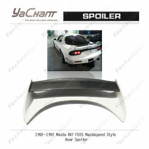Carbon Wing Blade W Frp Base For 92 97 Mazda Rx7 Fd3s Mazdaspeed Rear Spoiler