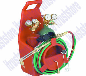 Portable Oxy Oxygen Acetylene Torch Weld Welder Tool Kit With Tanks Regulator