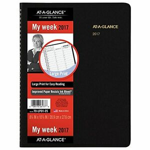 At a glance Weekly Appointment Book Planner 2017 Large Print 8 1 4 X 10 7 8