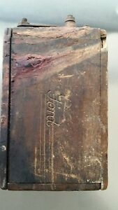 Antique Ford Model T Type Wood Battery Box Ignition Coil