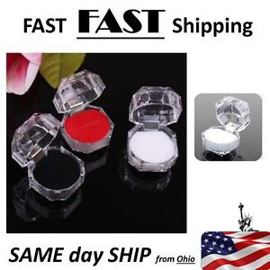 Wholesale White Crystal Ring Boxes 20 Pack Jewelry Store Supplies
