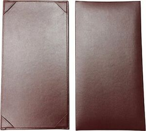 25 Single Panel Menu Covers 11 X 5 5 In Burgundy pza 130bgp p