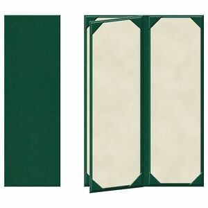 25 Four Panel Four View Menu Covers 14 X 4 25 In Green pza 440grp p