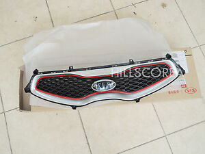 Kia Picanto Morning 2011 2012 2013 2014 Oem Red Radiator Grille Assy