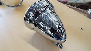 4 1 2 Bullet Race Sports Car Gt Racing Chrome Side Exterior 1 Mirror Rat Rod