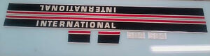 International 584 Hood Decals